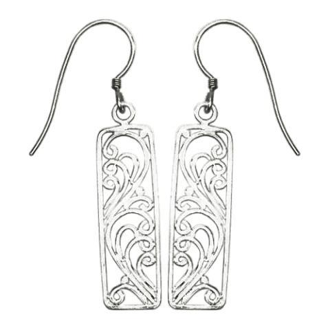 Rectangle Scroll Earrings