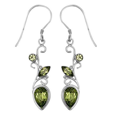 Peridot Silver Earring