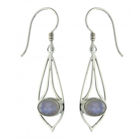 Blue Moonstone Earring