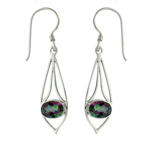 Mystic Topaz Drop Earring
