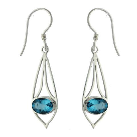 Swiss Blue Quartz Earring