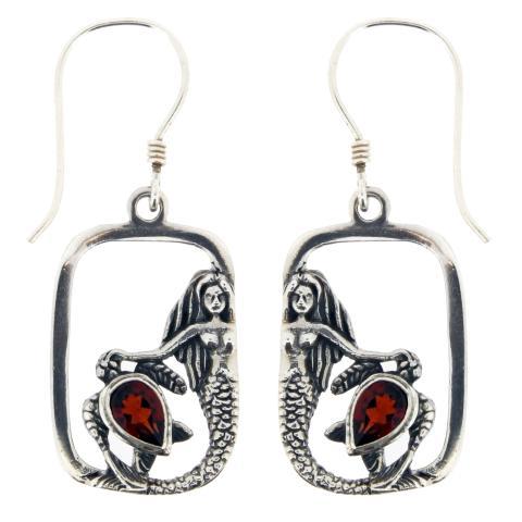 Garnet Quartz Oval Earring