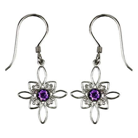 Amethyst Starburst Earrings