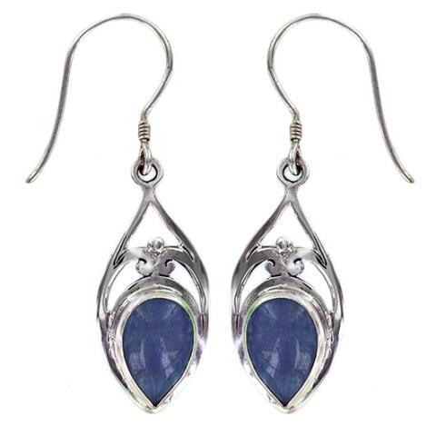 Kyanite Silver Drop Earring