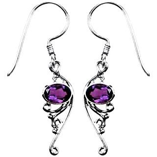 Amethyst Curl Earrings