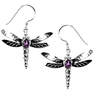Dragonfly With Amethyst Earring