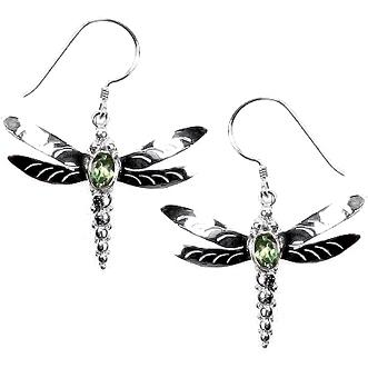 Dragonfly With Peridot Earring