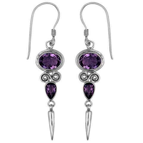 Two Stone Amethyst Earring