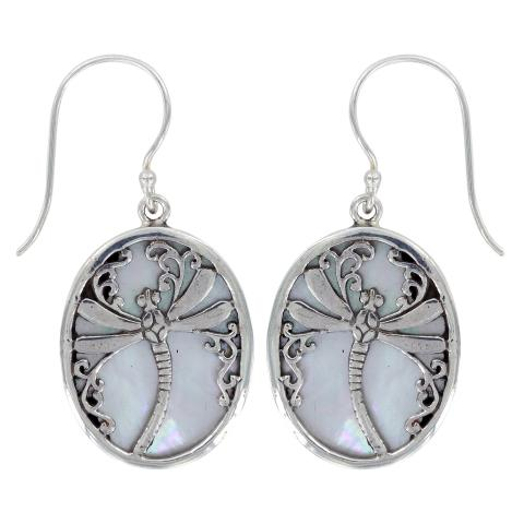 Vera Wolf Mother Of Pearl  Drop Earring