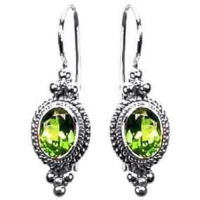 Bauble Framed Peridot Earrings