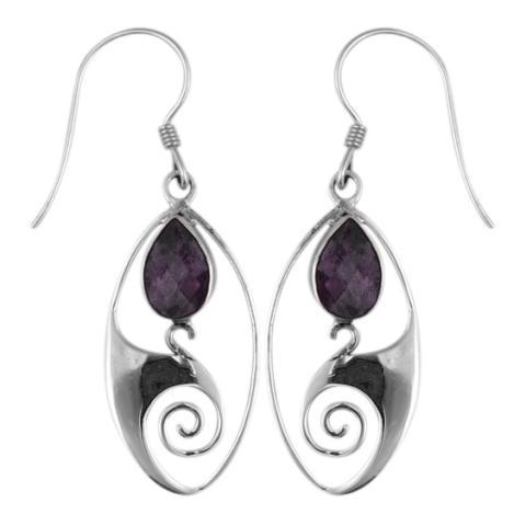 Amethyst Silver Dangle Earring