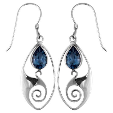 Blue Topaz Silver Dangle Earring
