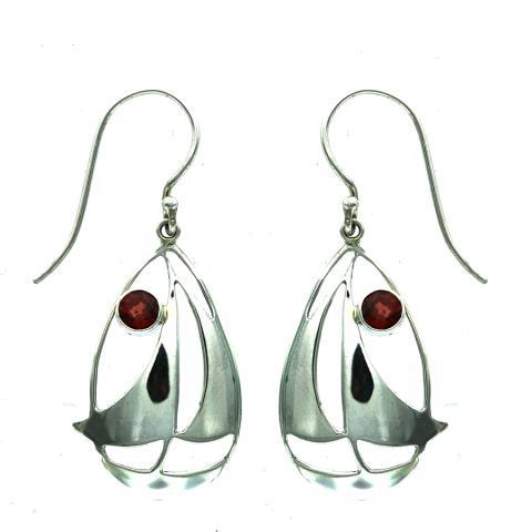 Garnet Drop Earring