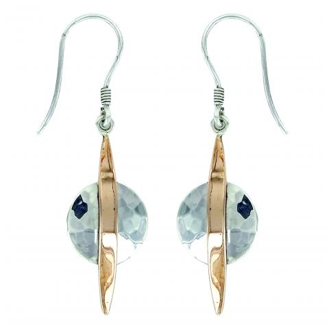 Vera Wolf Silver Copper Round Earring