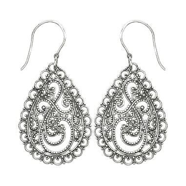 Granulated Teardrop Earrings