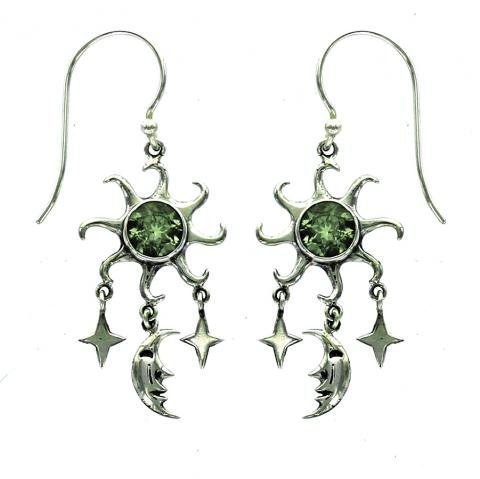 Peridot Drop Earring
