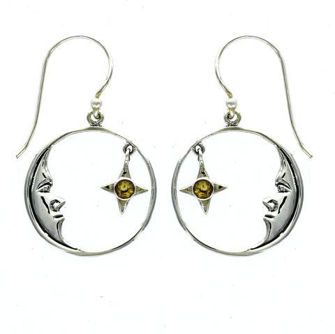 Citrine Silver Earring