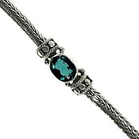 Dot Weave Green Quartz Stone Bracelet