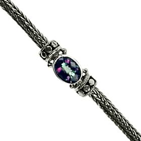 Dot Weave Mystic Topaz Stone Bracelet