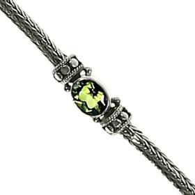 Dot Weave Peridot Stone Bracelet