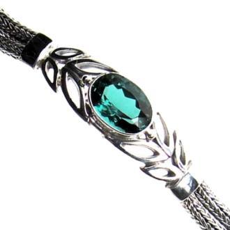 Green Quartz Leaf Bracelet