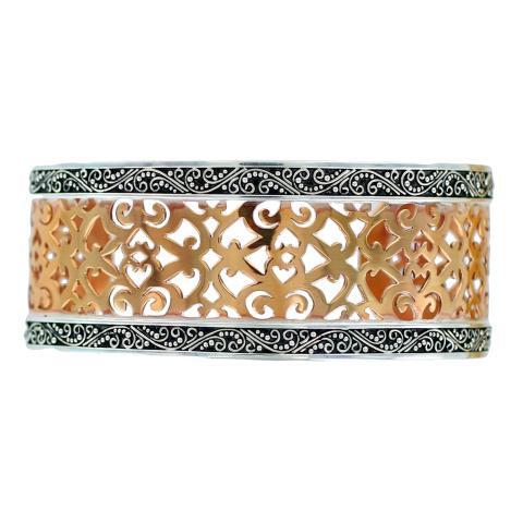 Silver & Copper Cuff Bracelet