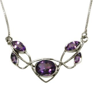 Five Stone Amethyst Necklace