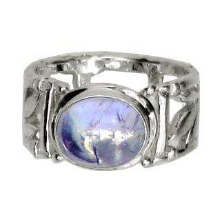 Bamboo Blue Moonstone Ring