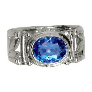 Bamboo Blue Topaz Ring