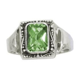 Peridot Framed Ring