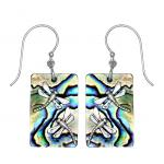 Paua Shell Dragonfly Earrings