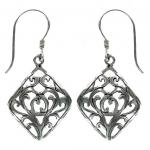 Smoky Symmetry Silver Earring