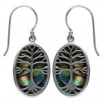 Paua Tree of Life Earring