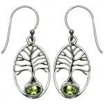 Tree of Life Peridot Earrings