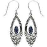 Blue Quartz Scroll Earrings