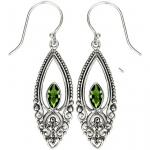 Peridot Scroll Earrings