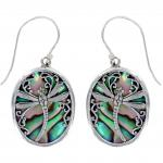 Paua Shell  Dragonfly Drop Earring