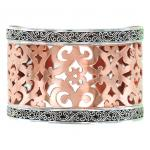 Sterling Silver Copper Carved Bracelet