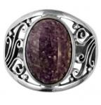 Charoite Silver Ring